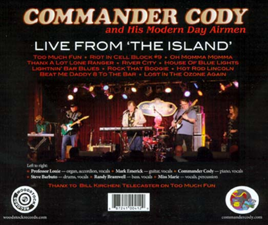 Live From The Island - Commander Cody and His Modern Day Airmen